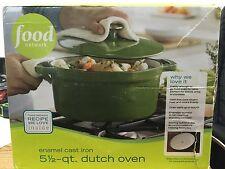 NEW OTHER - Food Network 5.5 qt Enamel Cast Iron Dutch Oven