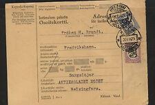 Finland   parcel   card   1929             KL0210