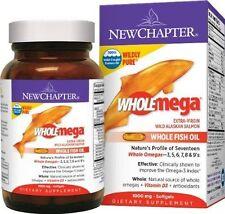 New Chapter Whole Omega Wild Alaskan Salmon 1000 mg Extra-Virgin 30 gel 10-17 #3