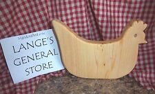 Small Handcrafted Wood CHICKEN HEN Cutting Board Trivet Home Decor Gift New