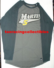 Mark Martin 2011 Chase Authentics #5 GoDaddy Baseball L/S Tee LGE FREE SHIP!