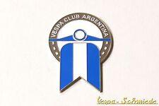 """VESPA IN METALLO-TARGHETTA """"VESPA CLUB ARGENTINA"""" - Club Argentina emblema SMALTO"""