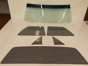 Glass Set El Camino GB Windshield Grey Vent Door Back 68 69 70 71 72 Pickup