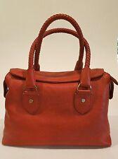 COLE HAAN  BOX SATCHEL PICANTE RUST BROWN NEW W TAG Handbag Purse