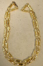 Men's Yellow Gold Plated Fancy Roman Link Fashion Chain Necklace 30in Inch Long