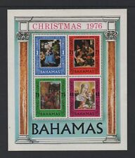 BAHAMAS 1976 CHRISTMAS M/SHEET *FINE MLH*