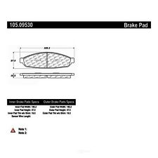 Disc Brake Pad Set Front Centric 105.09530 fits 2003 Lincoln Aviator