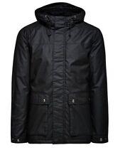 Abrigos y chaquetas de hombre parka negros de nailon