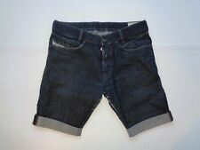 "Mens Diesel Poiak jeans shorts 32"" - indigo / black denim summer festival #752"