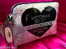 New Victoria's Secret Bag Makeup Silver Sequins Fashion London Angel Wings
