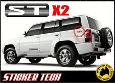 2x PATROL ST BLACK VINYL STICKER DECAL KIT TO SUIT NISSAN 4WD GU QUARTER PANEL