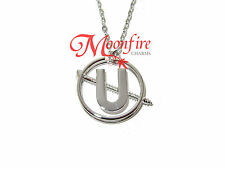 GHOSTBUSTERS HOLTZMANN'S SCREW U PENDANT NECKLACE SILVER-PLATED AWESOMENESS