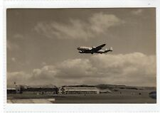 Photograph of Prestwick Airport with BOAC Constellation Airliner (C24617)
