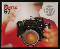 Catalogue appareil photo PENTAX 6x7 super reflex ASAHI catalog Katalog