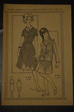 """ FEMMES D'AUJOURD'HUI "" PATRON SUPPL. DU N°903 1962 // ROBE T48 ENSEMBLE 14 ANS"