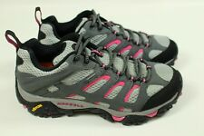 MERRELL Women 7 Moab GoreTex GTX Waterproof Hiking Outdoor Shoe Granite Fuchshia