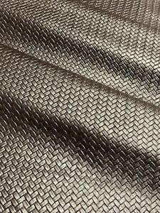 Dark Brown Basketweave Leather Cowhide Accessory Craft Wallet Belt Avg 19 SqFt