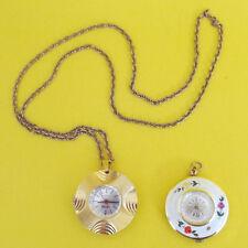 Vintage Pendant Style Nurse Watch Lot of 2 CARDOVA & NORDAM Gold tone