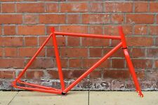 NEW - RED FIXIE/ FIXED WHEEL/ TRACK/ SINGLE SPEED 54CM ROAD BICYCLE FRAMESET