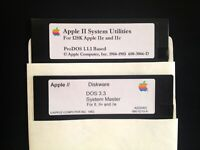 System Utilities / Dos 3.3 / Works on all Apple II, IIe, IIc, & IIgs Computers