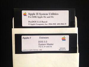 System Utilities / Dos 3.3 / Works on all Apple II, IIe, IIc, & IIgs Computers