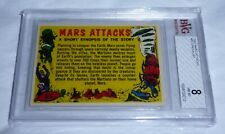 1962 Mars Attacks Checklist # 55 NM-MT BGS BVG 8 Like PSA Alien UFO Grail Card