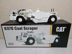 Caterpillar Cat 637G Coal Scraper with Auger - White - CCM Brass 1:48 Scale New!