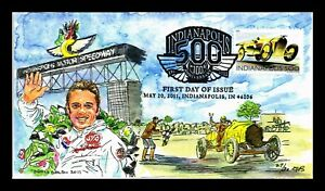 DR JIM STAMPS US COVER INDIANAPOLIS 500 AUTO RACE FDC DORIS GOLD HAND MADE