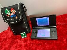 Nintendo DSi (Slot-1)Black  Console w/ 1 Game /Case Tested & Working CLEAN