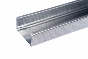 50no  50mm METAL C STUD FOR PARTITION WALLS (2.4M LONG)