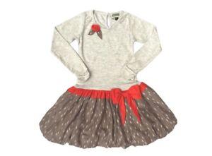 NWT Girl's Sophie Catalou Ecru Melange Drop-Waist Dress $68 - Choose Size