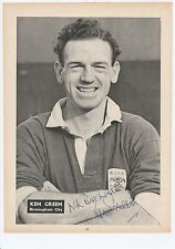 KEN GREEN BIRMINGHAM CITY 1943-1959 RARE ORIGINAL HAND SIGNED MAGAZINE CUTTING