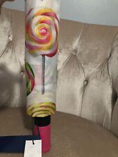 NWT Dooney & Bourke Swirl Swirls Automatic Umbrella Lollipop Pink White New