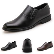 Men Dress Formal Leisure Leather Shoe Work Oxfords Business Slip on Pointy Toe D