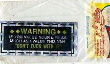 vtg prismatic sticker novelty Warning don't F*** with my VAN vanner chopper