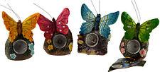 Set Of 4 Butterfly Solar Powered Light Figurines - Garden Ornament