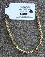 "Darice 7"" 17.78cm plaqué or métal spacer beads 1999-149 strand 6mm"