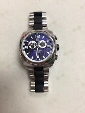 ESQ SWISS PIPELINE MOON PHASE CHRONOGRAPH BLUE DIAL WATCH