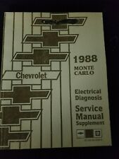 1988 Chevrolet Monte Carlo Electrical Diagnosis Service Manual Supplement