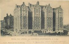 NEW YORK, NEW YORK   WHITTIER HALL LOWELL U0026 EMERSON APARTMENTS OLD POSTCARD  VIEW