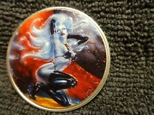 """2020 Silver Eagle Colorized """" Lady Death """" 1 of 10 or less as seen"""