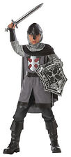 Medieval Renaissance Child Knight Costume Dragon Slayer 8 Pc Gry & Blk Costume L