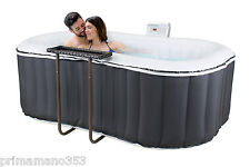 Jacuzzi 104 Jets Inflatable Jacuzzi Hot Spa with Shelf in Rattan