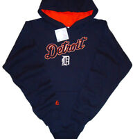 Detroit Tigers Majestic MLB Double Play Pullover Hoodie Blue Youth Sizes