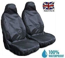 VW T25 CARAVELLE PREMIUM HEAVY DUTY FRONT SEAT COVERS BLACK 1+1