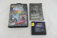 Jeu VIRTUAL PINBALL pour Sega MEGA DRIVE (MD) COMPLET PAL
