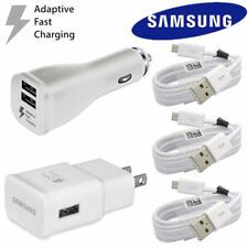 OEM Samsung Galaxy S6 S7 Note 4 5 Fast Charging Dual USB Car&Wall Charger+Cable