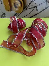 """Authentic Chanel Ribbon - width - 3/4"""" lenght - 81"""" Pink Organza"""
