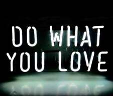 "DO WHAT YOU LOVE Home Room Wall Light Lamp Poster Bike Harley NEON Sign 12""x6"""
