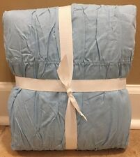 NEW Pottery Barn Teen Ruched TWIN Duvet LIGHT BLUE